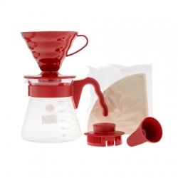 Hario V60 Pour Over sada červená